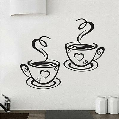 Coffee Cafe Tea Wall Vinyl Decal Restaurant Pub KZY