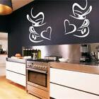 coffee cups kitchen wall stickers cafe vinyl