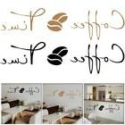 Coffee Time Wall Sticker Decals Vinyl Art Removable Mural Ca