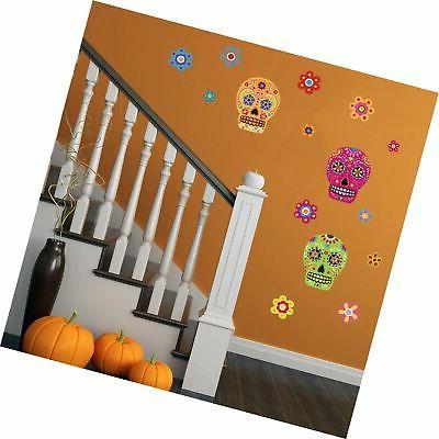 ufengke Skull Flower Wall Stickers The Decals
