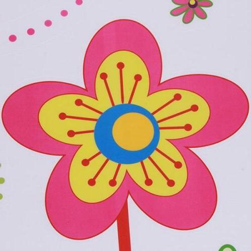Colors Flowers Sticker Decals Kids Living Jian