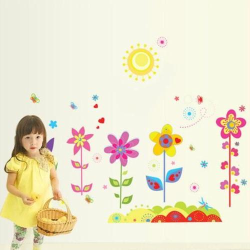Colors Flowers Wall Sticker Decals Kids