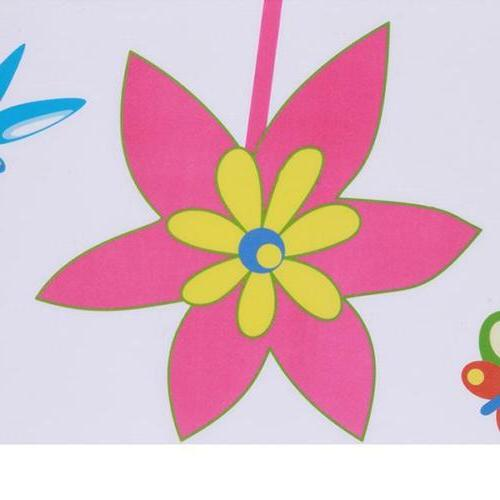 Colors Flowers Sticker Kids Living Room Nursery