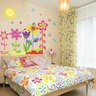 colors flowers removable wall sticker decals kids