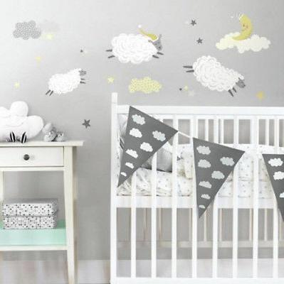 counting sheep wall stickers 21 decals nursery