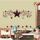 COUNTRY BERRIES and STARS stick ups rustic folk decals room