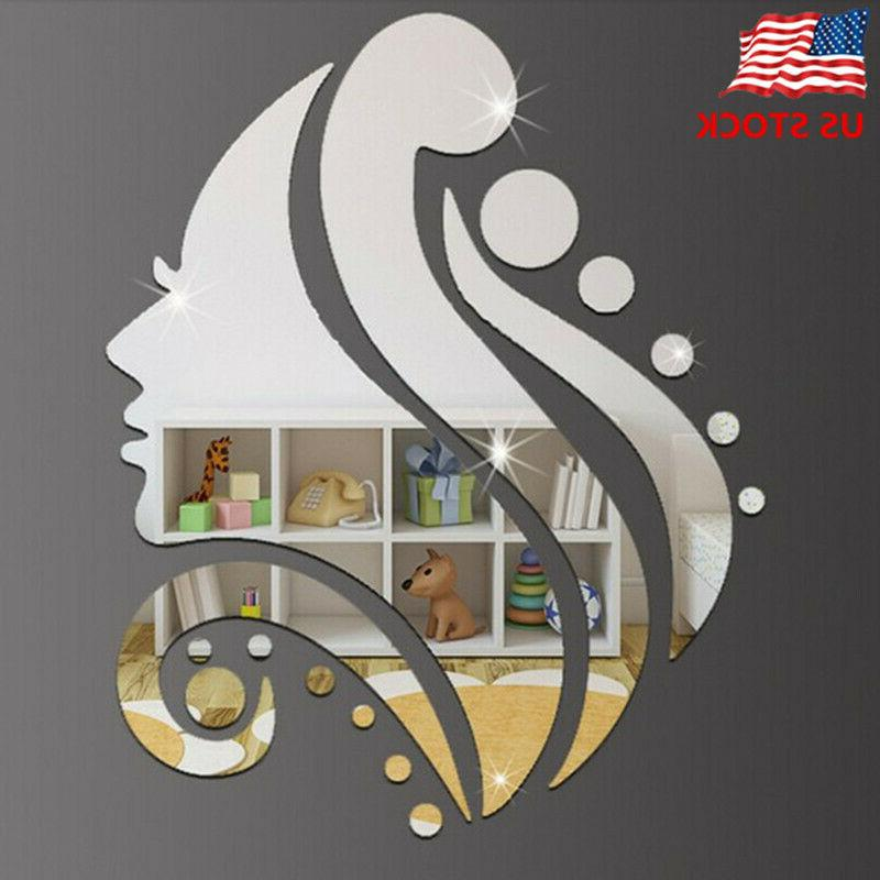 creative 3d wall sticker removable mirror beauty