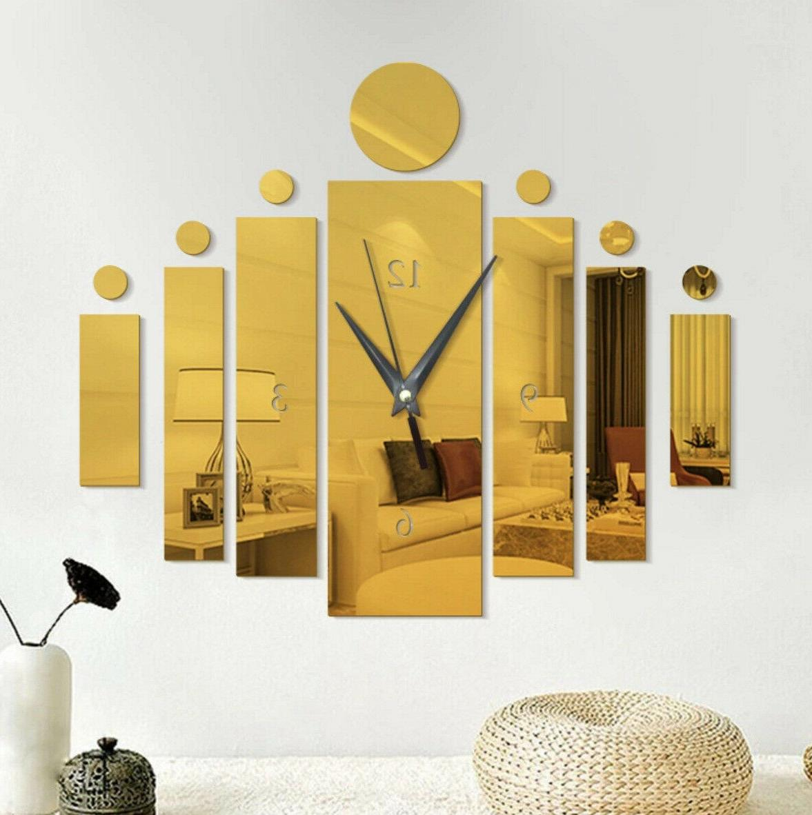 Creative Clock 3D Decals Removable Home