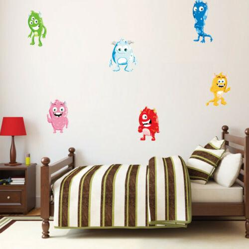 Cute Monsters Wall Full Kids Decor