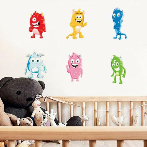 cute monsters wall sticker full colour wall