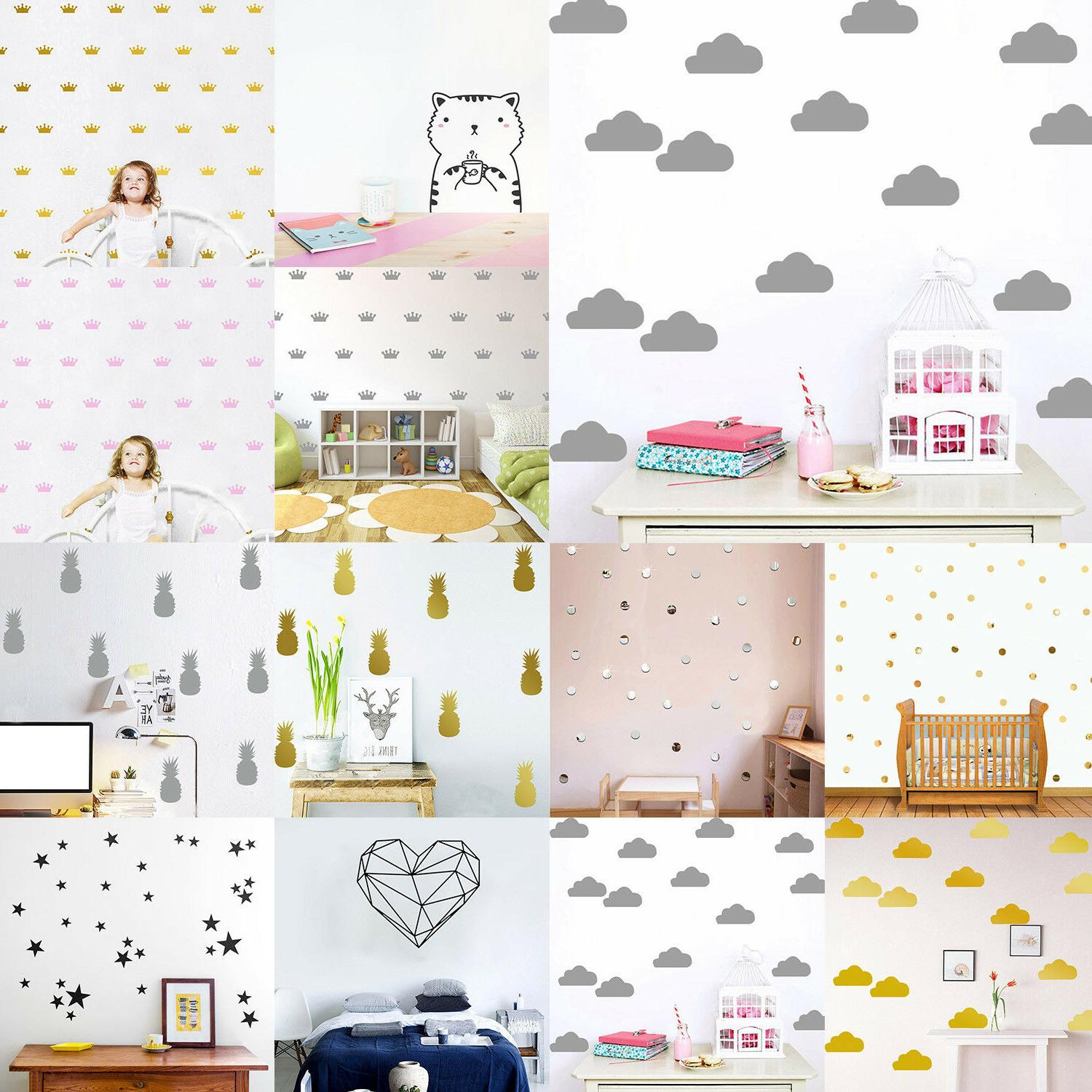 Cute Removable Stickers Decals Kids Nursery Room Decoration
