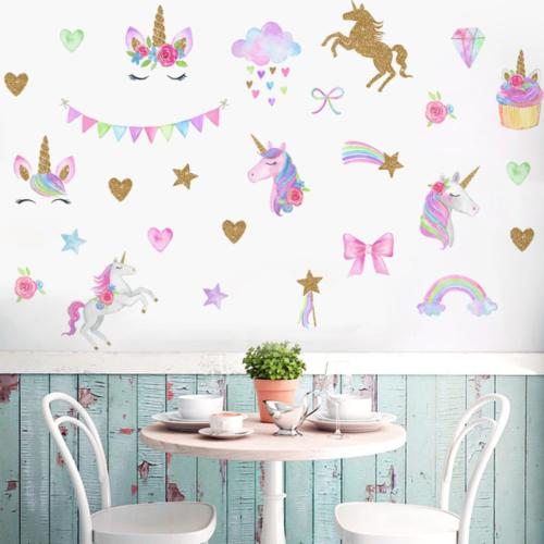 Unicorn Wall Decals Adhesive Sticker Room Decal Decor