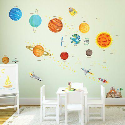 Decowall DA-1501 Solar System Kids Wall Stickers and Stick