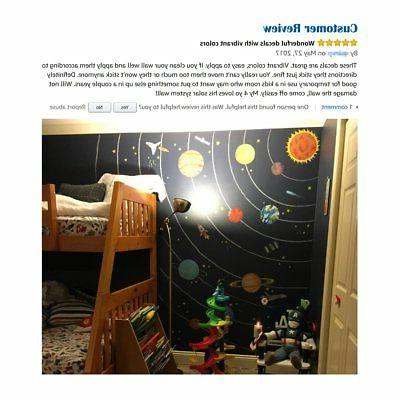 Decowall The Solar System Kids Wall Decals Wall Stickers Peel Stick