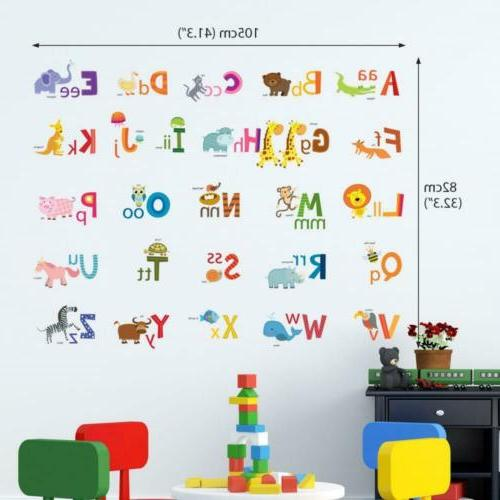 Decowall DA-1503A Animal ABC Kids Stickers Peel and...