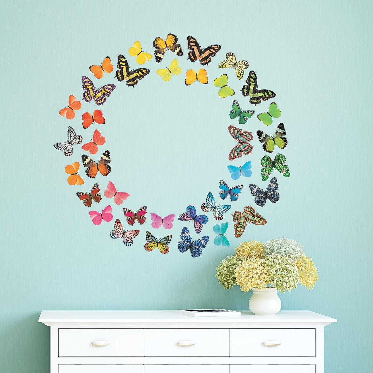 Decowall DA-1705 Vivid Butterflies Wall Stickers peel & deca