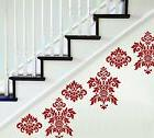 DAMASK RED Wall Decals  Room Decor Stickers Bedroom Decorati