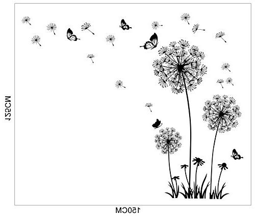 Dooboe - Stickers Dandelion Art Decor- Vinyl Peel Stick Mural