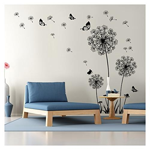 dandelion wall decal decor vinyl