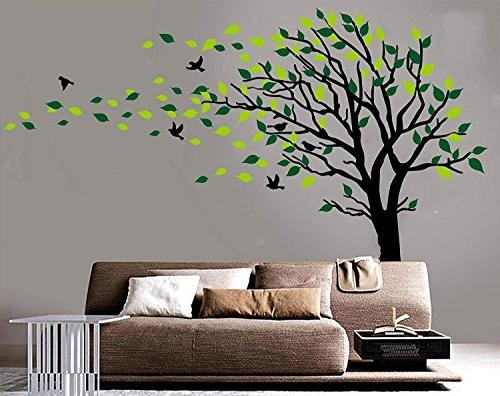 Large Tree The Wind Tree Decals Wall Art Girls Sticker Stickers Nursery Decor Decals