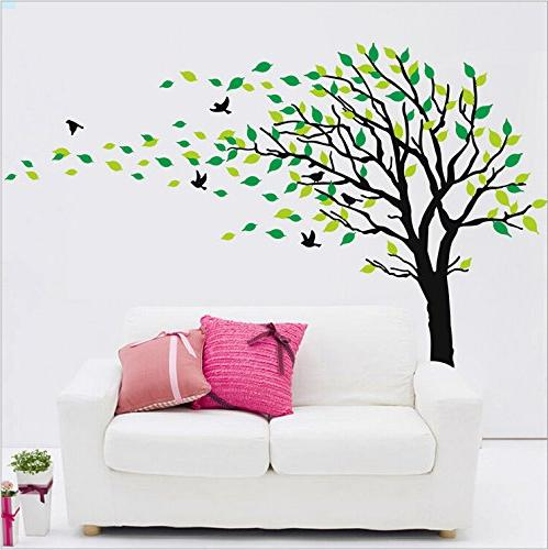 Large Blowing The Wind Decals Art Rooms Sticker Decor