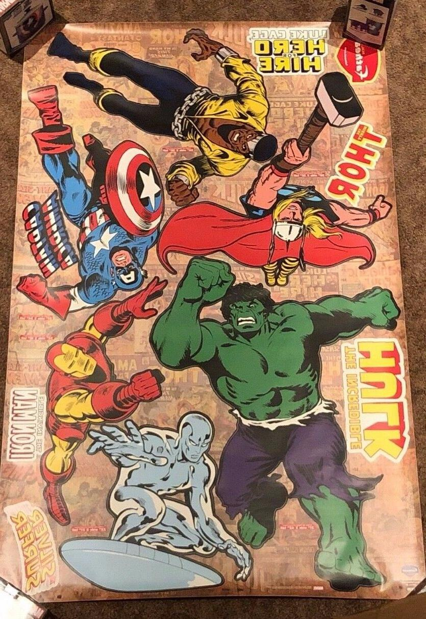 Heroes Large Marvel Decal