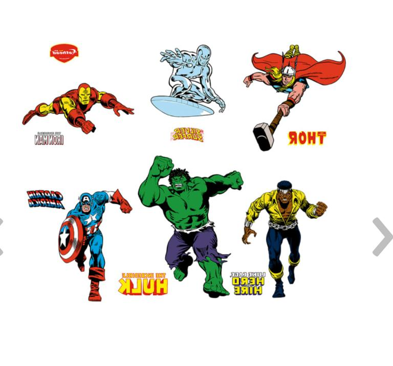 decals classic super heroes large marvel wall
