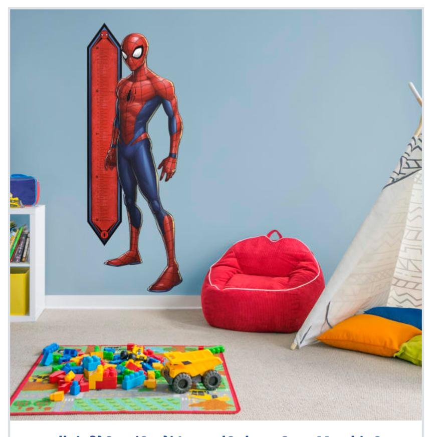 decals spider man growth chart life size