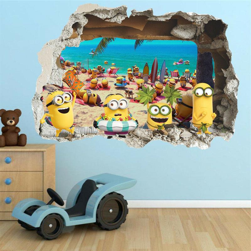 despicable me 3 minions 3d wall sticker