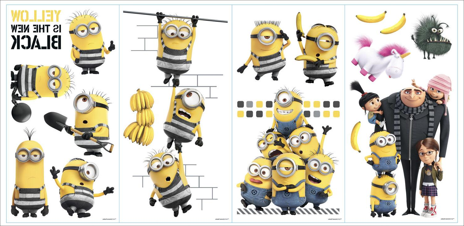 DESPICABLE ME WALL DECALS Minions Bedroom Decor