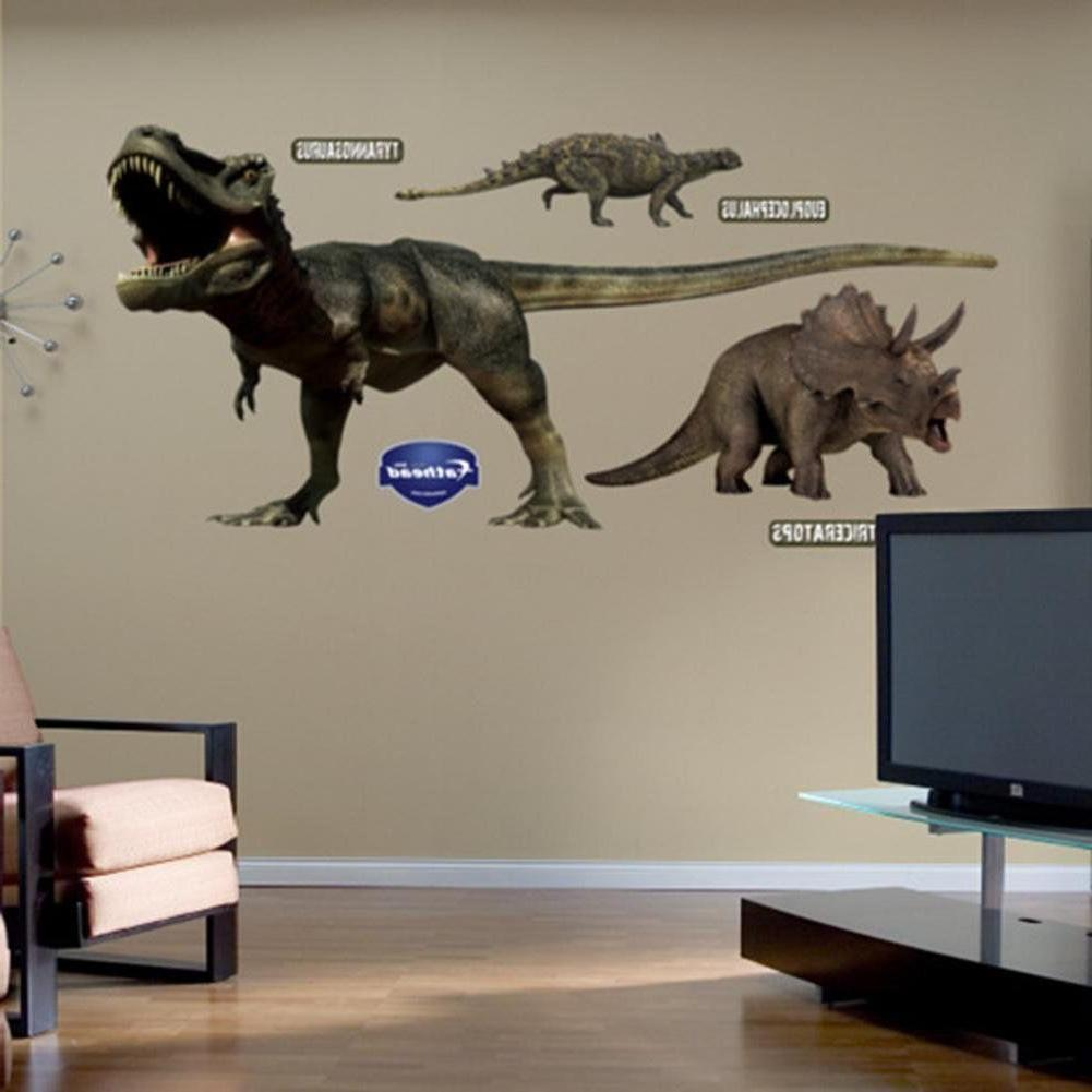 dinosaurs group wall decals t rex triceratops