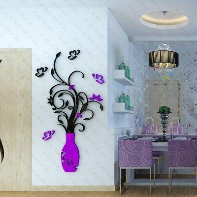 DIY Crystal Arcylic Wall Decal Home Bedroom