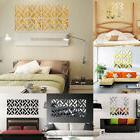 DIY Art Decal Home Decor 32Pcs Removable 3D Mirror Acrylic W