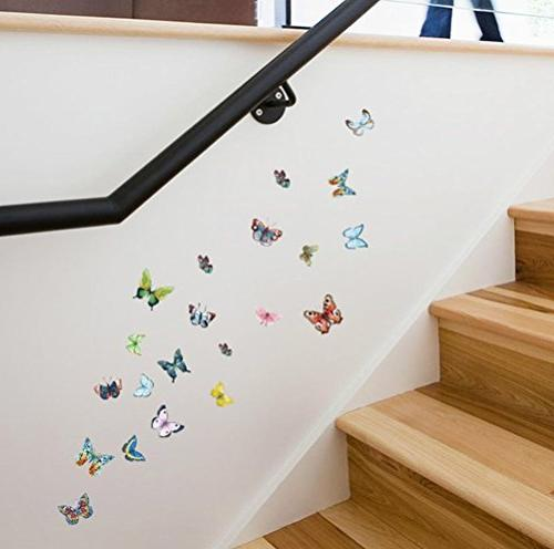 diy colorful butterflies wall decal