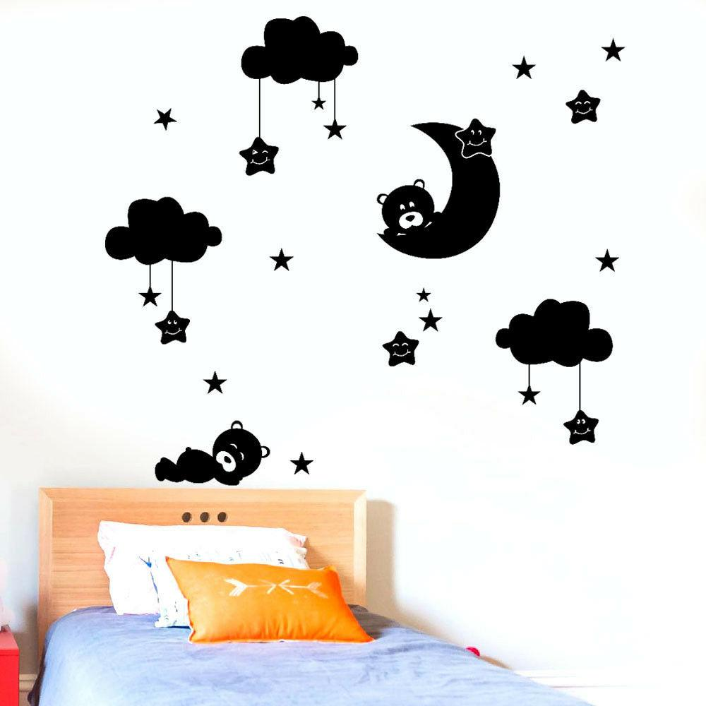DIY Large Clouds Moon Stars Room Decoration