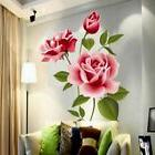 DIY Vinyl Home Room Decor Art Rose Flower Wall Decal Sticker