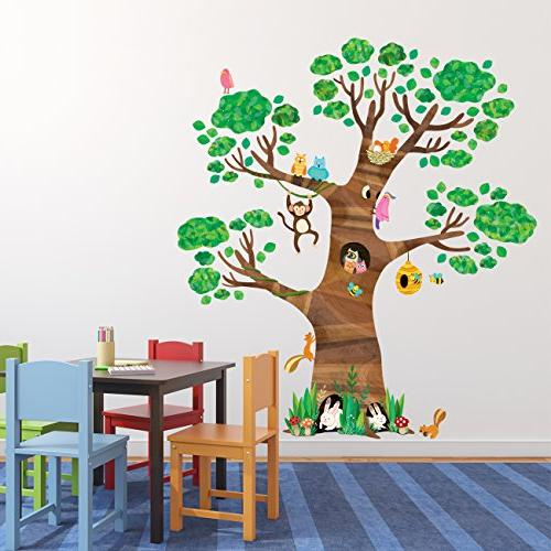 Decowall Giant and Animals Decals Stickers Peel Stickers Bedroom
