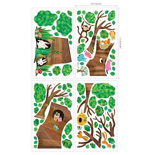Decowall DL-1709 Giant and Decals Stickers Peel and Wall Stickers Nursery Bedroom Living