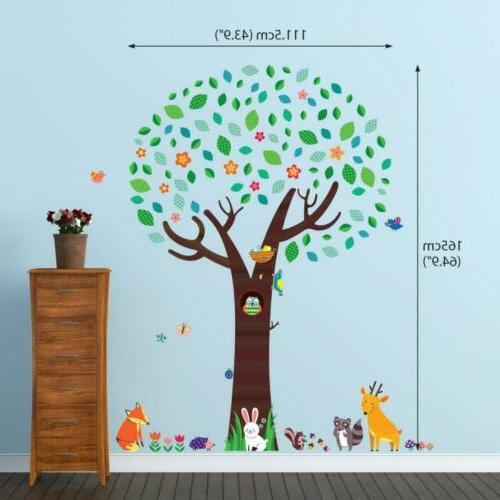 Decowall DM-1312 with Animal Friends Wall Decals Stickers...
