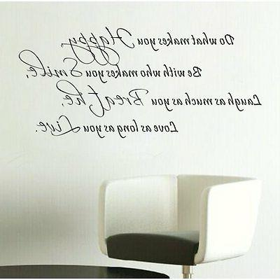 DO WHAT MAKES YOU HAPPY Home Wall Decal Vinyl Words Letterin