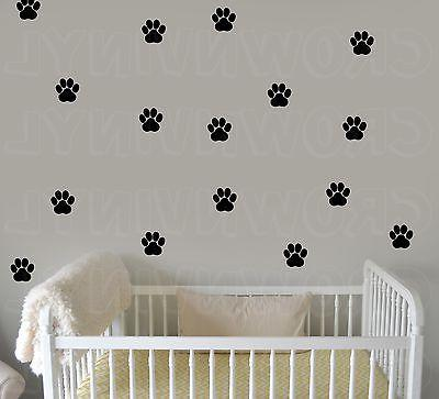 "Dog Paw Print Decals Pet Animal 1.5"" or  2.5"" Wall Window Fl"