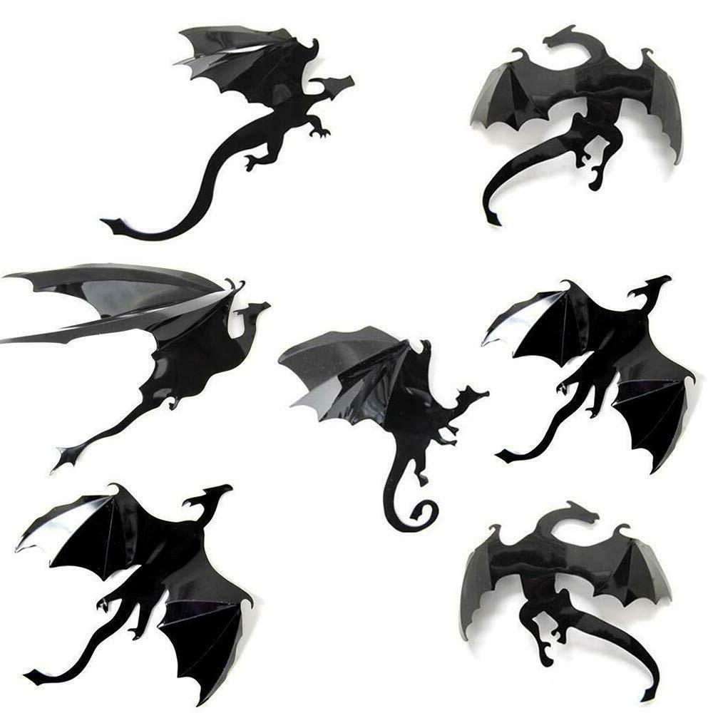 dragon wall decals stickers 7 pack set