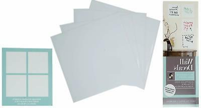 dry erase board wall decals 4 sheets