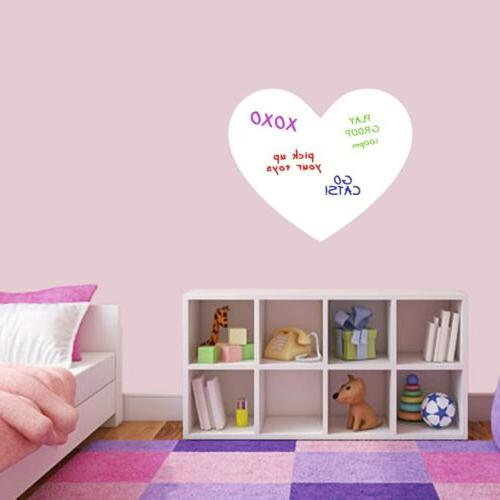 dry erase heart wall decal organizing lists
