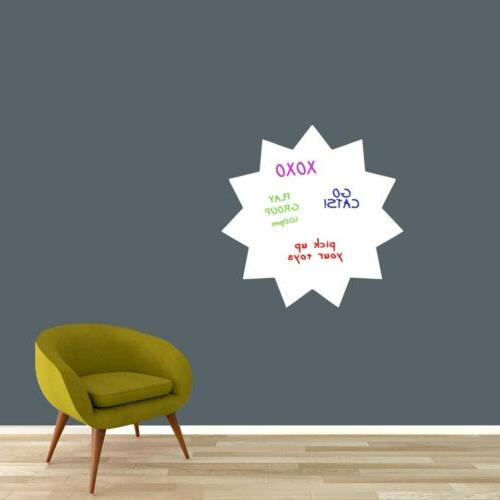 dry erase starburst wall decal organizing lists