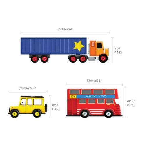 Decowall Transports Kids Wall Stickers Decals Peel