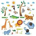 Decowall DW-1206 Wild Jungle Animals Kids Wall Decals Wall S
