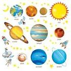 Decowall DW-1307 Planets in the Space Kids Wall Decals Wall