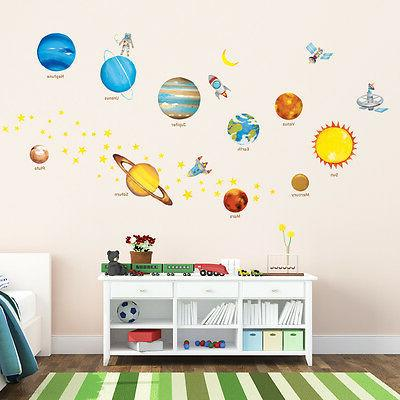 Decowall DW-1307 Planets in the Space Wall Stickers Nursery