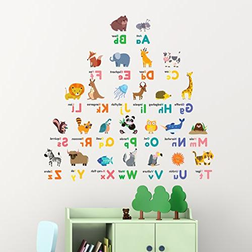 Decowall Alphabet ABC and Stick Stickers Bedroom